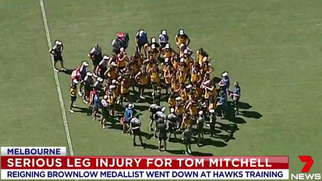 Tom Mitchell training injury