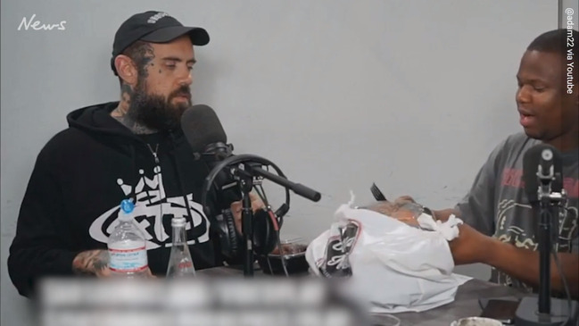 6c248430f No Jumper podcast host Adam22 attacked with a gun during livestream