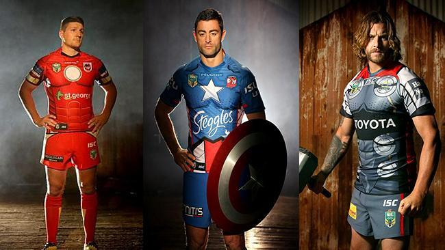922da92c180 Sydney Roosters to don Captain America jerseys when they take on 'Ironman'  Dragons in superhero Round 21 | Daily Telegraph