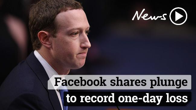 Facebook shares plunge, Mark Zuckerberg loses $12 billion