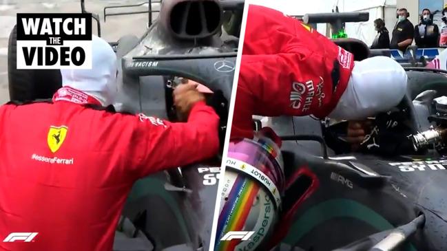 F1: Vettel first person to congratulate Hamilton on seventh World Championship