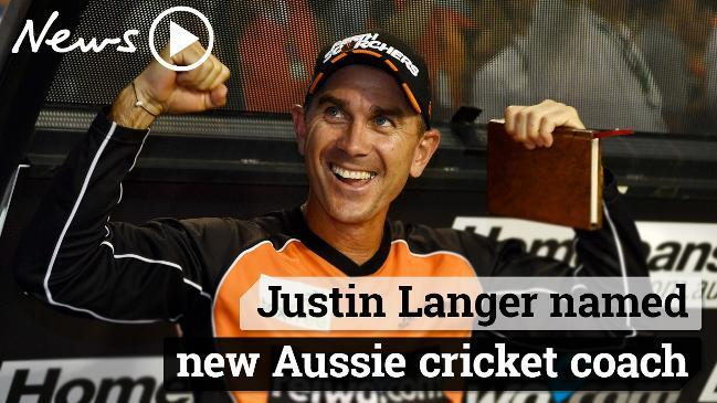 Justin Langer appointed as Aussie cricket coach