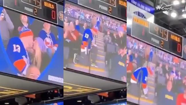 Islanders fan pretends to propose in cruel 'Kiss Cam' joke