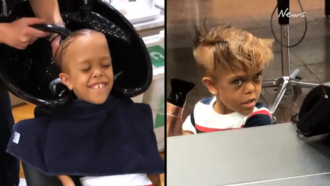 Bullied boy Quaden Bayles' treated to makeover
