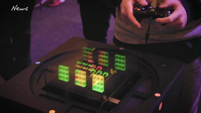 Games on a Voxon 3D volumetric display: Video: Voxon