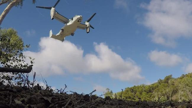 Us Osprey Located Following Crash Off Central Queensland The