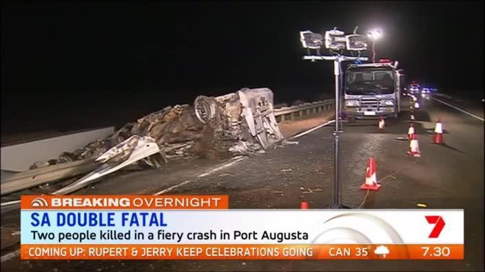 Two killed in road train crash on the Eyre Peninsula
