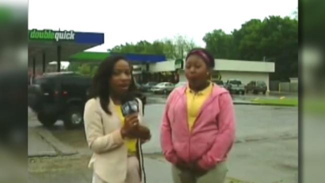 Female witness in Greenville MS wets herself live on TV on