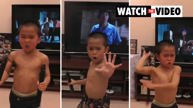 Japanese youngster perfectly imitates Bruce Lee