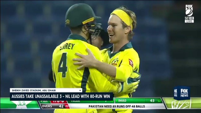 Australia win Game 3 and claim the series against Pakistan