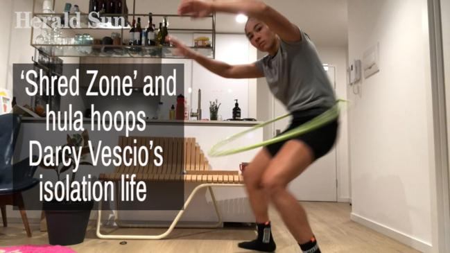 'Shred Zone' and hula hoops- Darcy Vescio's isolation life
