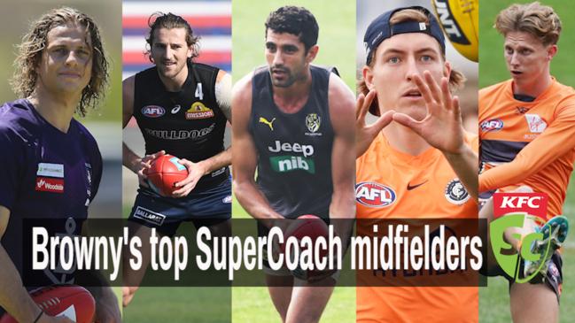 Browny's top SuperCoach midfielders