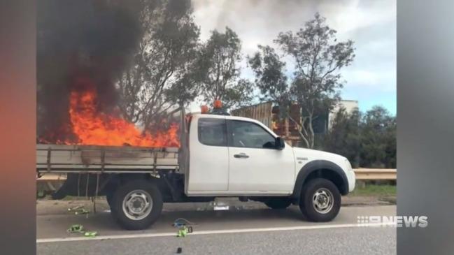 Eyre Highway crash: Man dies in serious truck smash near