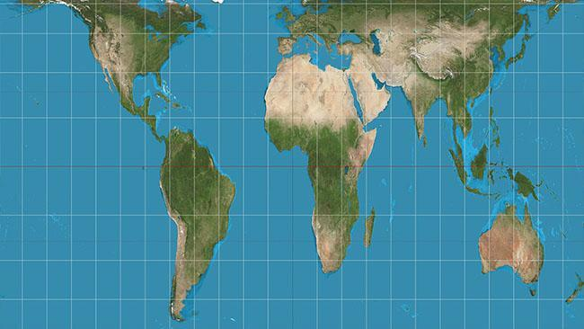 Map Australia 4371.World Map With Accurate Sizes Gall Peters Map Throws Schools Into A