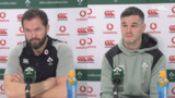 Jonathan Sexton and Andy Farrell | Ireland press conference