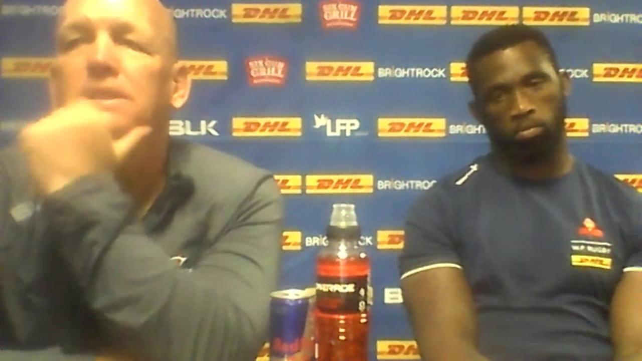 John Dobson & Siyamthanda Kolisi pre-match Lions Round Two - rugby365