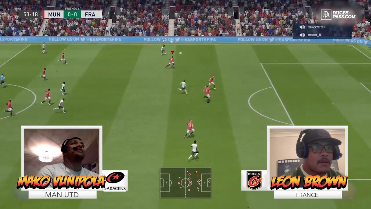 Mako Vunipola vs Leon Brown | RugbyPass FIFA Pros