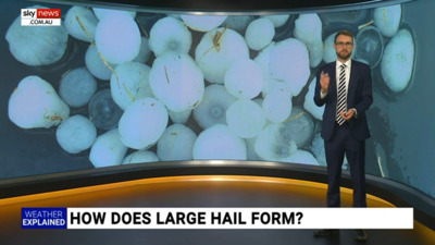 Has large or giant hail fallen at your place? How does it get so big? 