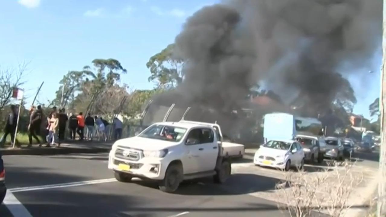 Two People Dead Truck On Fire In Multi Vehicle Crash West