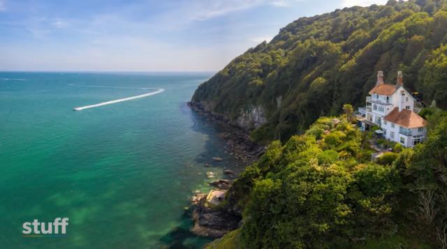 Fairytale house on the clifftop