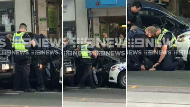 Man accused of ramming police auto in Melbourne's Bourke Street