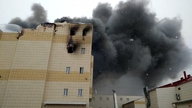 Russian complex fire leaves 64 killed