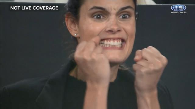 Raonic's girlfriend reacts to third set win
