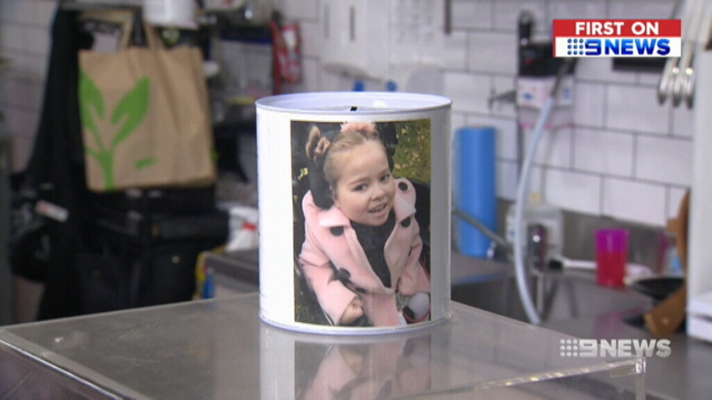 Donations for sick girl surge after charity tin stolen