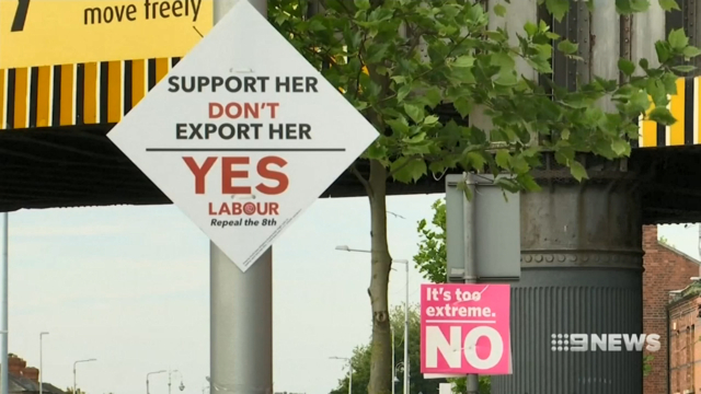 Exit poll says Irish vote overwhelmingly to dump pro-life amendment