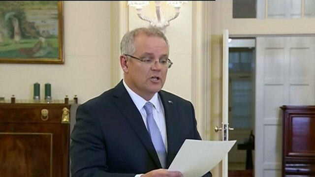 New Australian prime minister Scott Morrison faces party popularity slump