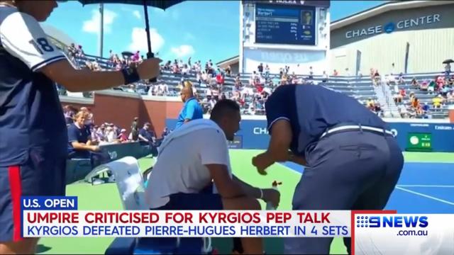 Fed slams umpire's 'pep talk'