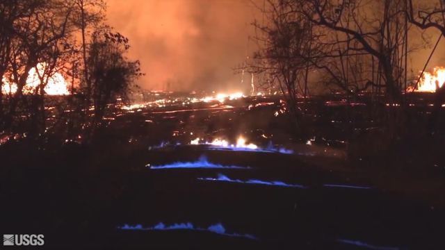 Hawaii's Erupting Kilauea Volcano Is Now Spouting Blue Flames of Burning Methane