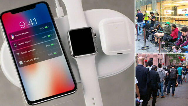 Early birds eagerly await release of Apple's highly-anticipated iPhone X