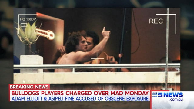 Police charge nude Bulldogs duo