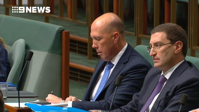 Inbound Australian PM Scott Morrison gives his first address