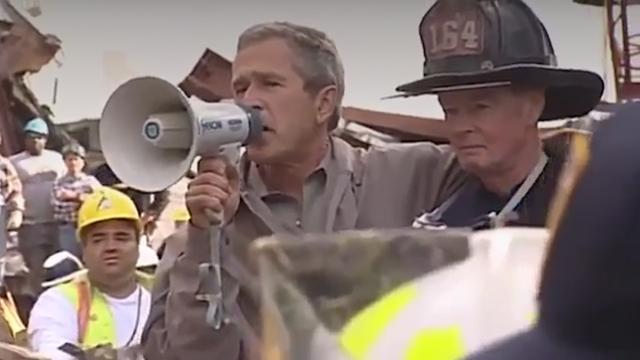George W Bush S Bullhorn Speech