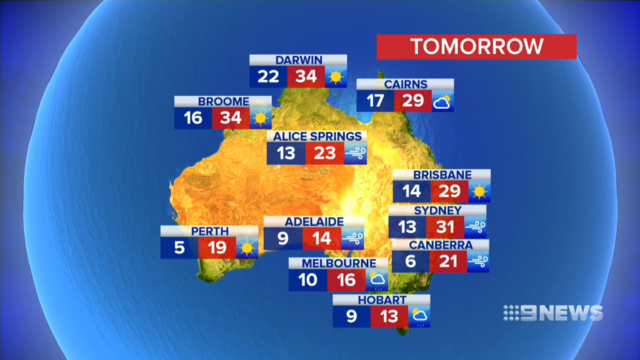 Australia weekend weather: Warnings issued for wild winds ...