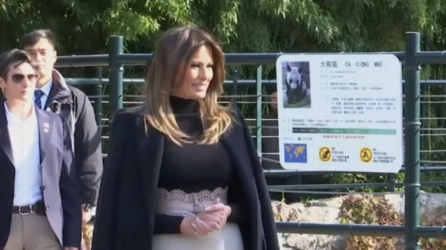 Melania trump appeared on public after the operation