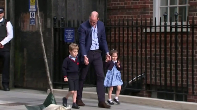 Royal baby: Prince William jokes about 'strong name' after new son's birth