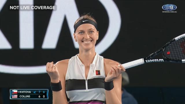 Kvitova advances to final