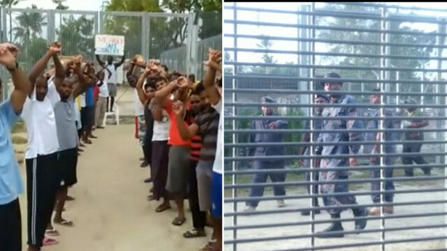 Papua New Guinea police flood closed Australia refugee camp on Manus Island
