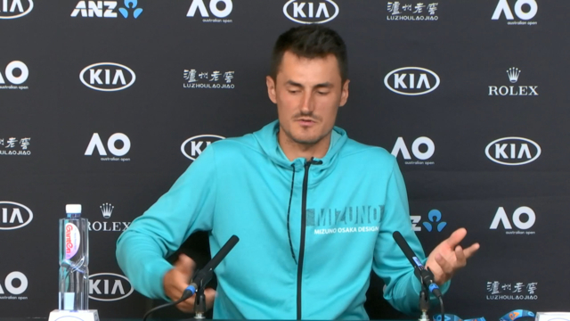 Tomic unleashes on Hewitt
