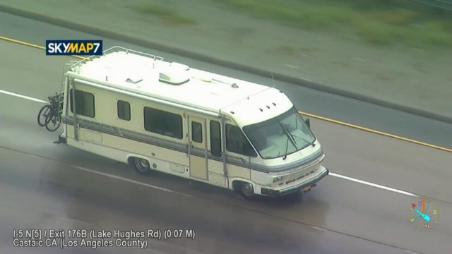 California authorities chasing after RV possibly carrying two kids