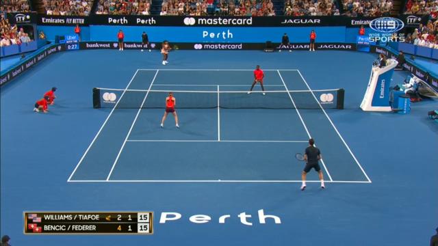 Federer, Serena share lengthy rally