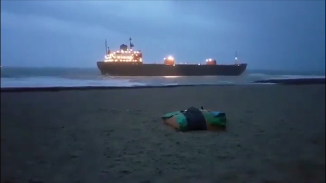 Russian cargo ship runs aground off British coast, paper reports