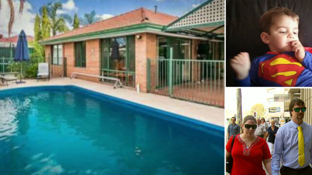 Parents of Lachlan Mitchell call for day care swimming pool ban. (9NEWS)