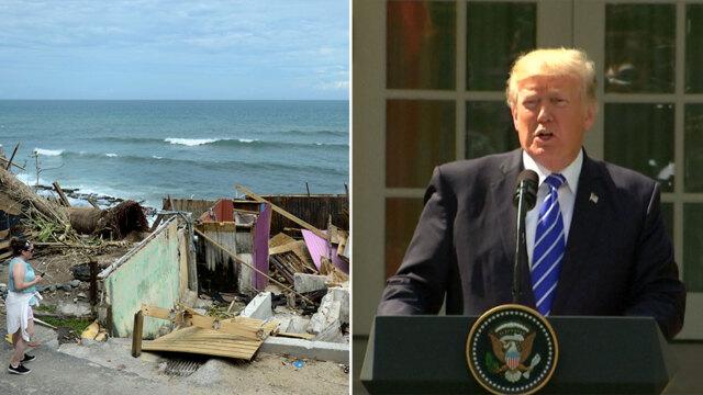 Trump calls his Puerto Rico critics 'politically motivated ingrates'
