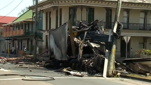 Truck Bursts Into Flames After Crash in Singleton