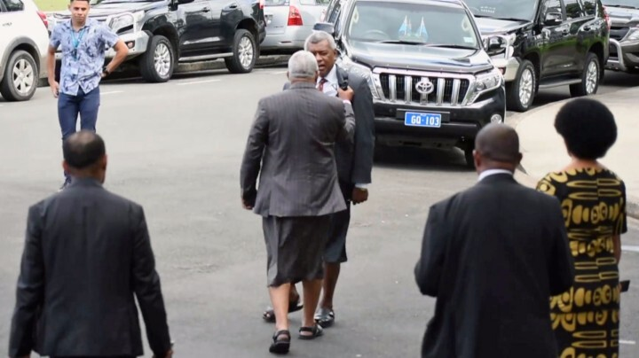Video surfaces of Fijian Prime Minister grabbing, shoving opposition MP